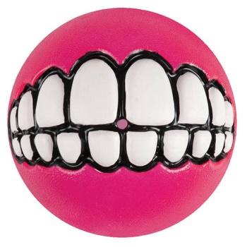 """Rogz Grinz мяч """"Зубы"""" с отверстием для лакомства GR02K розовый"""