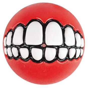 """Rogz Grinz мяч """"Зубы"""" с отверстием для лакомства GR02C красный"""