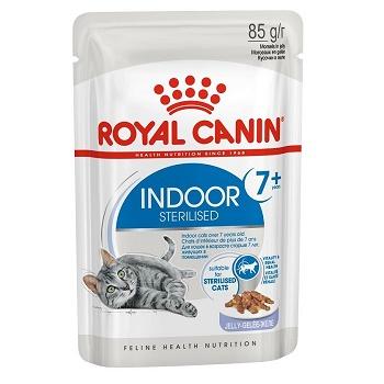 Royal Canin Indoor 7+ Sterilised влажный корм для кошек в желе (12 шт.)