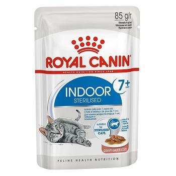 Royal Canin Indoor 7+ Sterilised влажный корм для кошек в соусе (12 шт.)