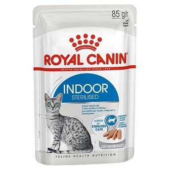 Royal Canin Indoor Sterilised влажный корм для кошек в паштете (12 шт.)