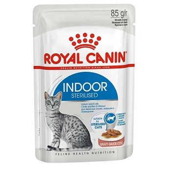 Royal Canin Indoor Sterilised влажный корм для кошек в соусе (12 шт.)