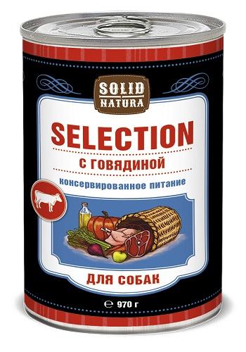 Solid Natura Selection консервы для собак с говядиной