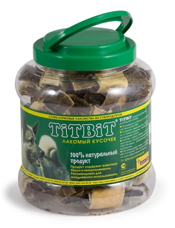 TiTBiT Бантики с желудком говяжьи банка