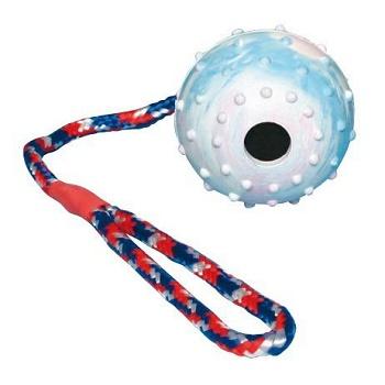 Trixie игрушка для собак мяч полый на веревке 6 см (3305)