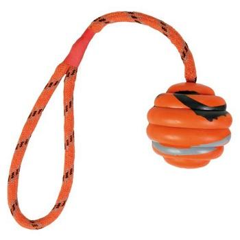Trixie игрушка для собак мяч на веревке 6 см (33724)