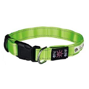 Trixie светящийся ошейник для собак S-M Зеленый
