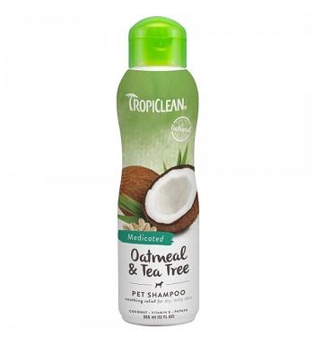 Tropiclean Oatmeal & Tea Tree шампунь для собак и кошек лечебный