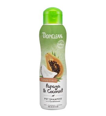 Tropiclean Papaya & Coconut шампунь-кондиционер 2 в 1 для собак и кошек