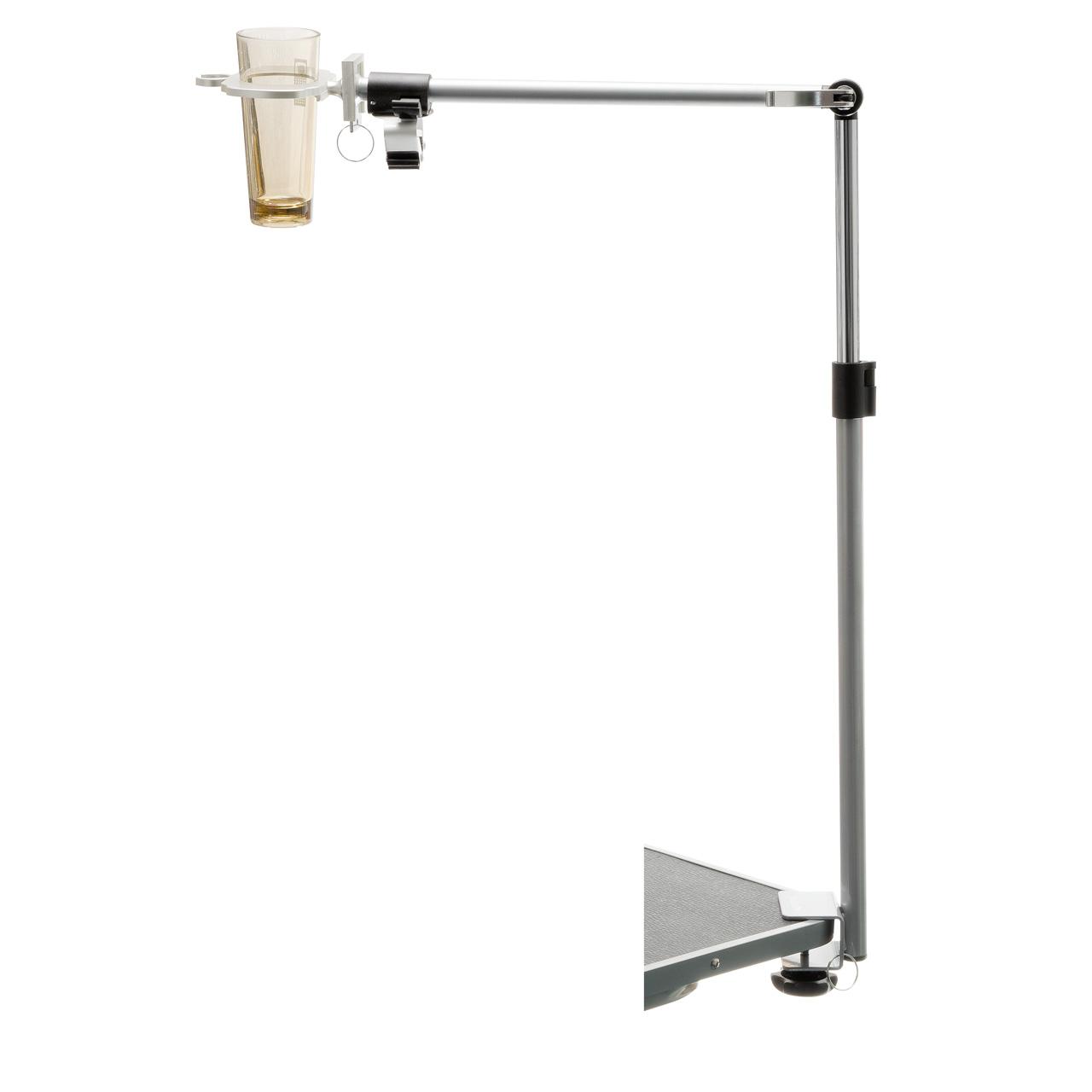 V.I.Pet кронейн для груминг стола со стаканом для инструментов серебро