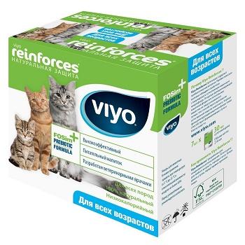VIYO Reinforces Cat пребиотический напиток для кошек и котят (7 шт.)