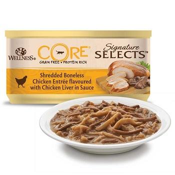 Wellness Core Signature Selects консервы для кошек с куриным филе и куриной печенью в соусе