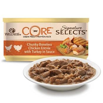 Wellness Core Signature Selects консервы для кошек с куриным филе и индейкой в соусе