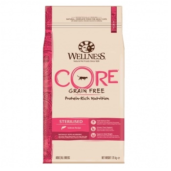 Wellness Core Sterilised сухой корм для стерилизованных кошек с лососем