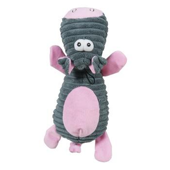 Zolux игрушка для собак Корова плюшевая розовая 25 см