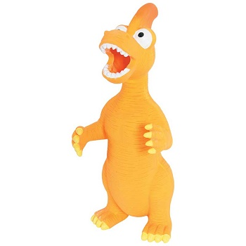 Zolux игрушка для собак латексная Динозавр оранжевый 24 см