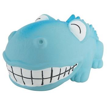Zolux игрушка для собак латексная Крокодил голубой 18 см