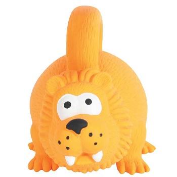 Zolux игрушка для собак латексная Лев оранжевый 15 см