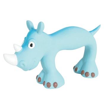 Zolux игрушка для собак латексная Носорог голубой 22 см