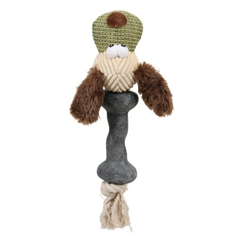 Zolux игрушка для собак Собака плюшевая комбинированная 25 см