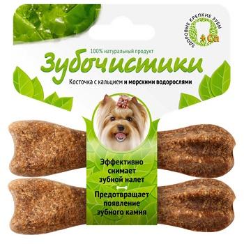 Зубочистики лакомство для собак мелких пород со вкусом водорослей