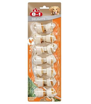 8in1 Delight XS косточка с курицей для мелких собак
