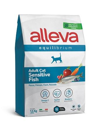 Alleva Equilibrium Sensitive Fish сухой корм для взрослых кошек с рыбой