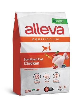 Alleva Equilibrium Sterilized Chicken сухой корм для стерилизованных кошек с курицей