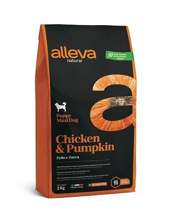 Alleva Natural Puppy Maxi Chicken сухой корм для щенков крупных пород с курицей