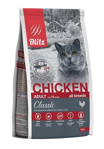 Blitz Classic Adult Chicken сухой корм для кошек с курицей