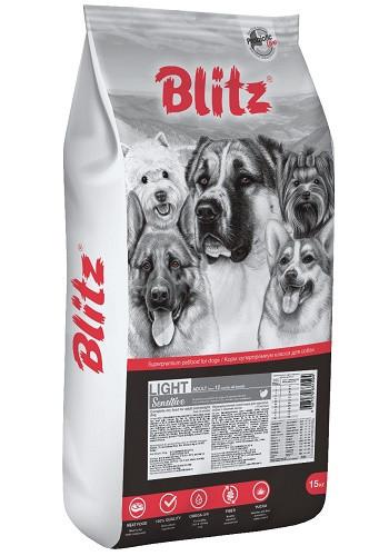 Blitz Sensitive Adult Light сухой корм для взрослых собак с лишним весом