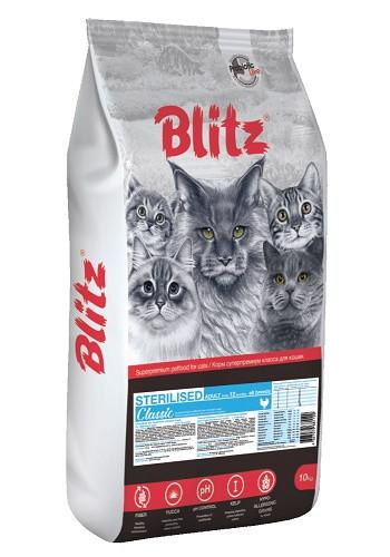 Blitz Classic Sterlised Chicken сухой корм для стерилизованных кошек