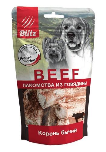Blitz Beef сублимированное лакомство для собак Бычий корень
