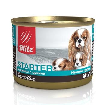 Blitz Sensitive Starter влажный корм для щенков Индейка с цукини