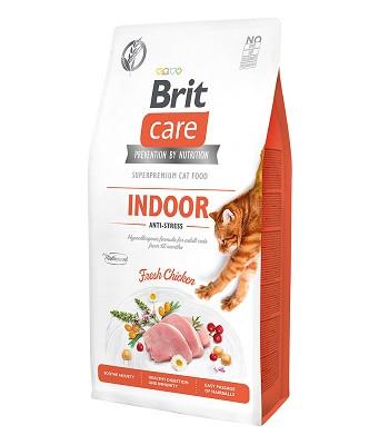 Brit Care Indoor Anti-Stress сухой корм для домашних кошек с курицей