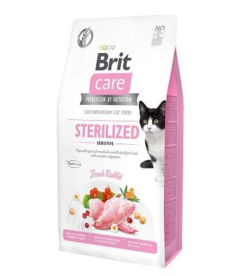 Brit Care Sterilized Sensitive сухой корм для стерилизованных кошек с чувствительным пищеварением