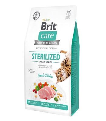 Brit Care Sterilized Urinary Health сухой корм для стерилизованных кошек с курицей