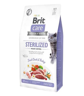 Brit Care Sterilized Weight Control сухой корм для стерилизованных кошек для контроля веса