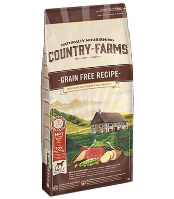 Country Farms Grain Free Recipe беззерновой сухой корм для взрослых собак всех пород с говядиной