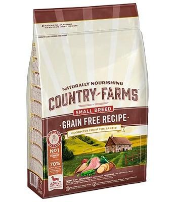Country Farms Grain Free Recipe беззерновой сухой корм для взрослых собак мелких пород с индейкой