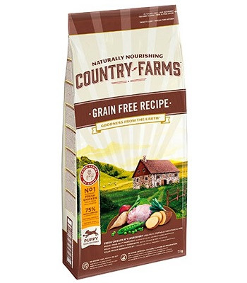 Country Farms Grain Free Recipe беззерновой сухой корм для щенков всех пород с курицей