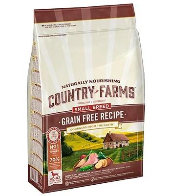 Country Farms Grain Free Recipe беззерновой сухой корм для щенков мелких пород с индейкой