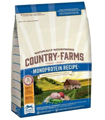 Country Farms Monoprotein Recipe монопротеиновый сухой корм для щенков всех пород с курицей