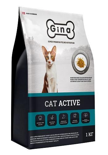 Gina Cat Active сухой корм для активных и выставочных кошек