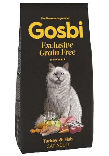 Gosbi Excluisve GF Adult сухой корм для взрослых кошек с индейкой и рыбой