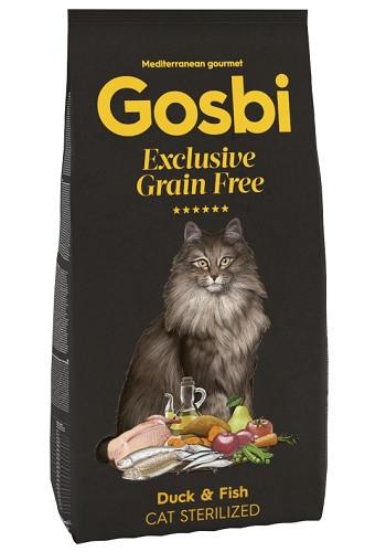 Gosbi Excluisve GF Sterilized сухой корм для стерилизованных кошек с уткой и рыбой