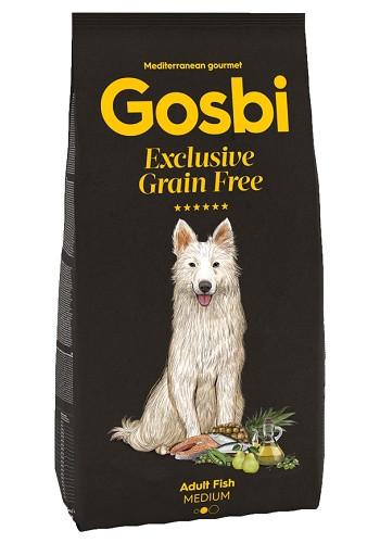 Gosbi Excluisve GF Adult Medium Fish сухой корм для собак всех пород с рыбой