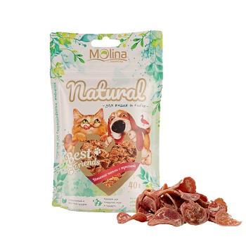 Molina Best Friends лакомство для собак и кошек Утиные чипсы с треской