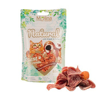 Molina Best Friends лакомство для собак и кошек Чипсы с ягненком и треской