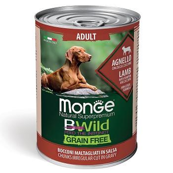 Monge BWild Adult консервы для взрослых собак с ягненком